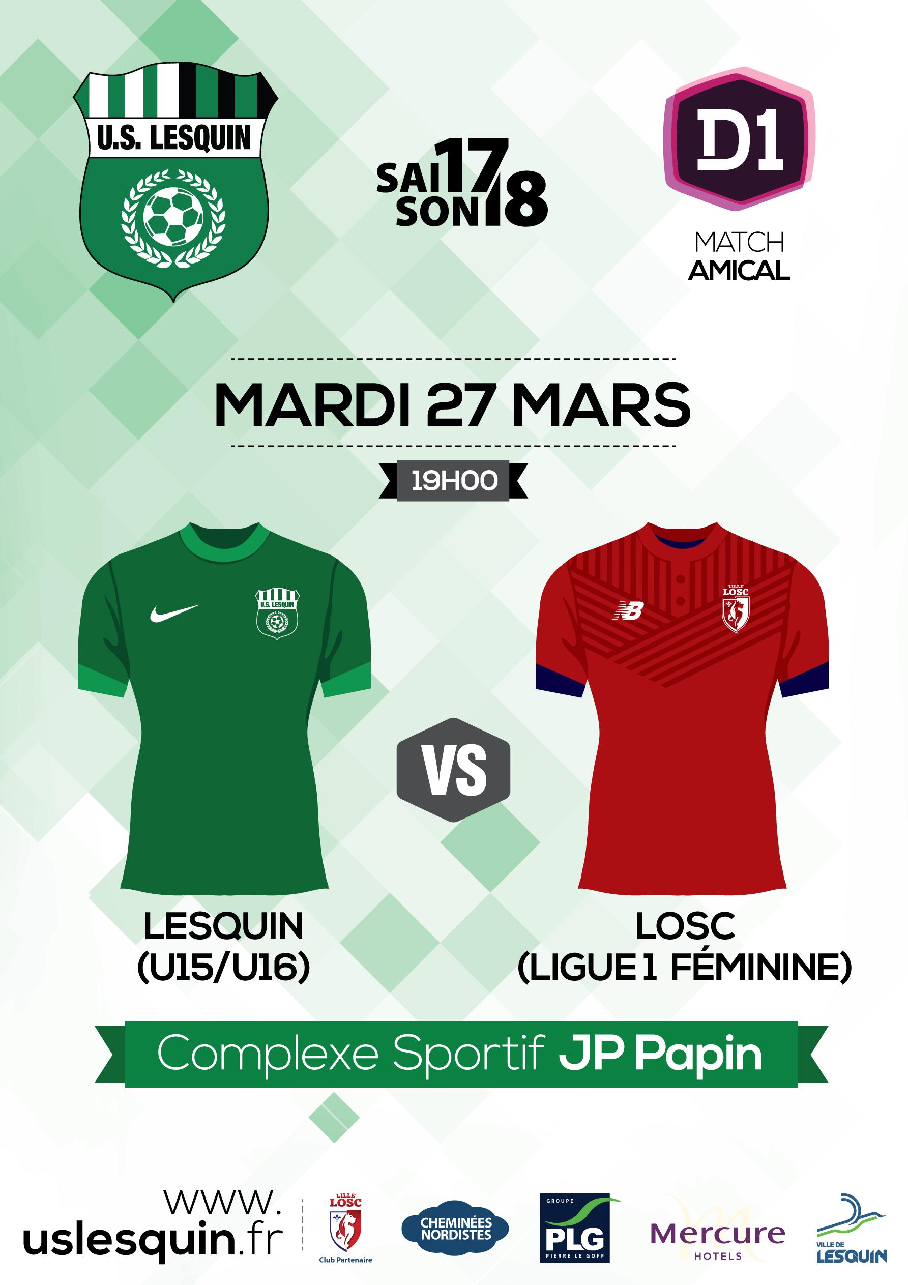 Lesquin vs Losc Ligue 1 Féminine